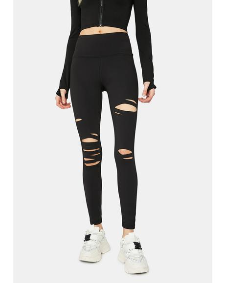 Tear It Up Shredded High Waist Leggings