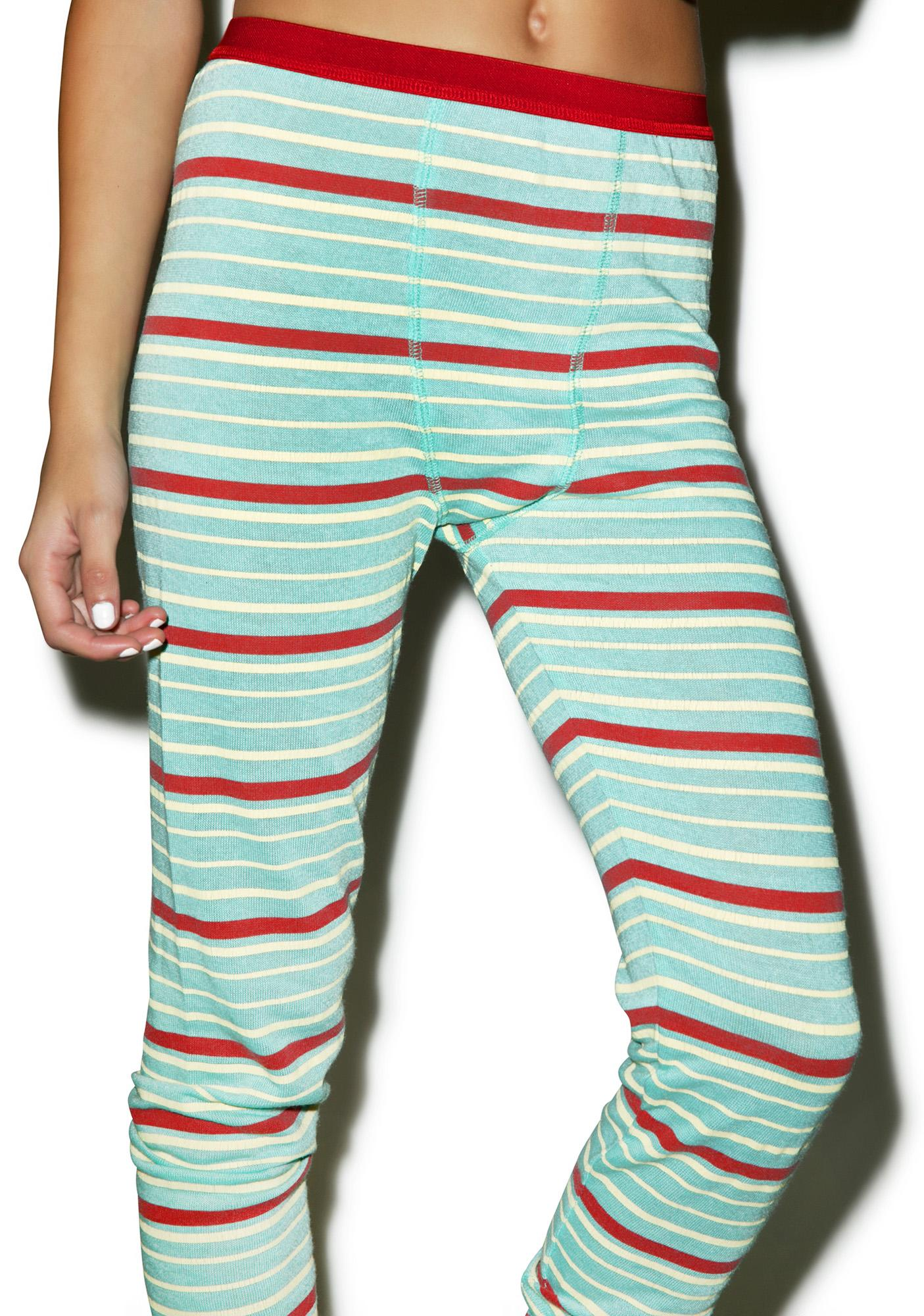 Mink Pink Stripe Off Leggings