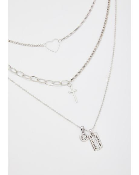 Swear On Love Layered Necklace