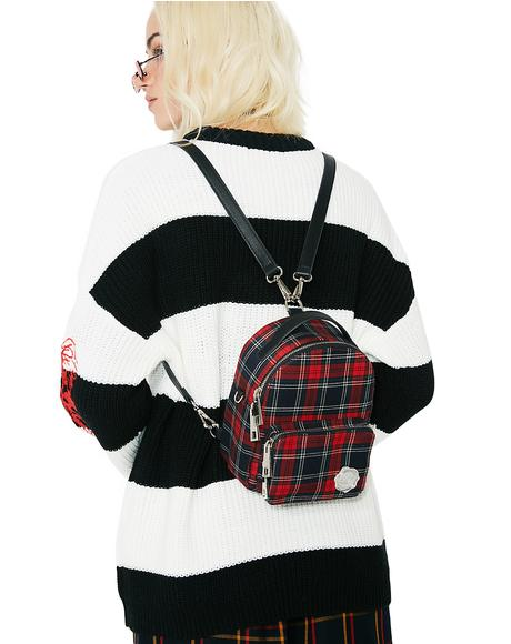 Plaid Cooper Mini Backpack