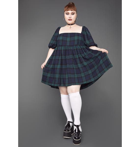 dELiA*s by Dolls Kill Her Moonlight Aura Plaid Babydoll Dress