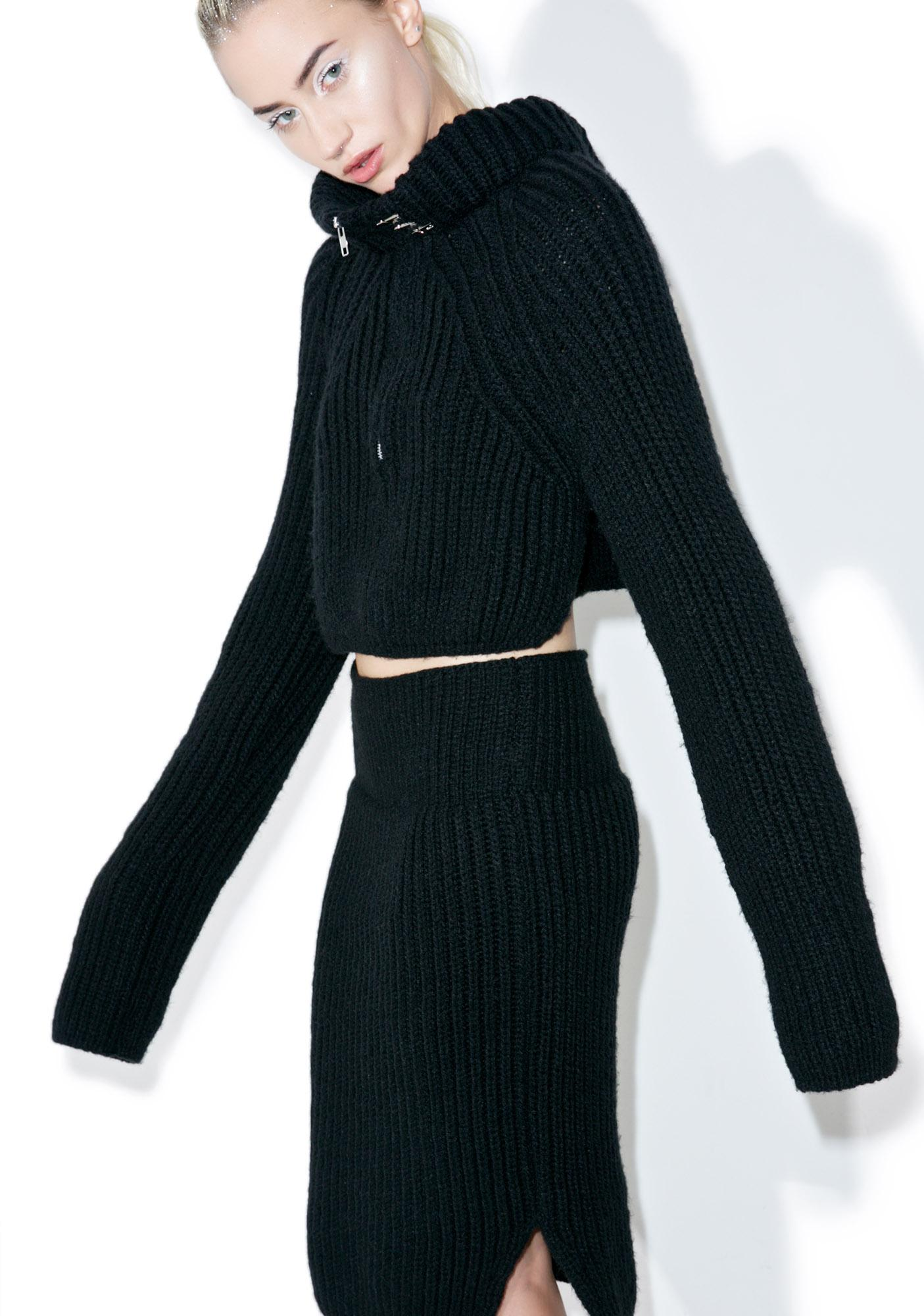 Maria ke Fisherman Noir Knit Top