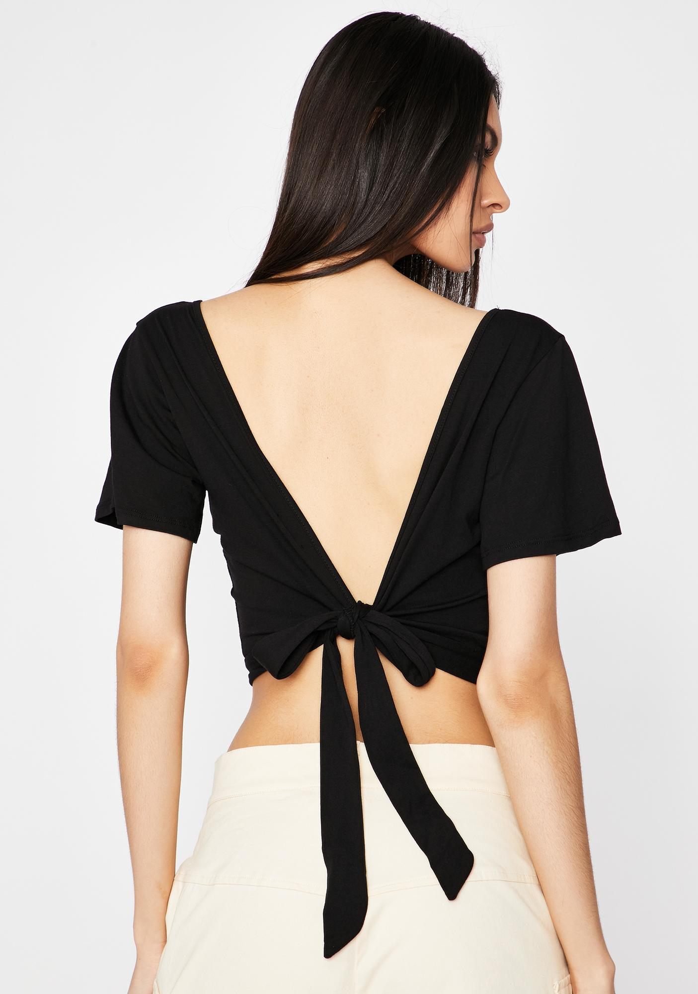 Flirty Lookz Tie Back Top