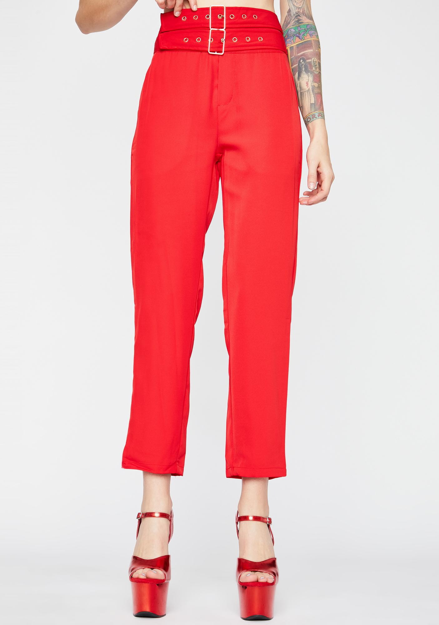 Hot Strapped For Cash Cropped Pants