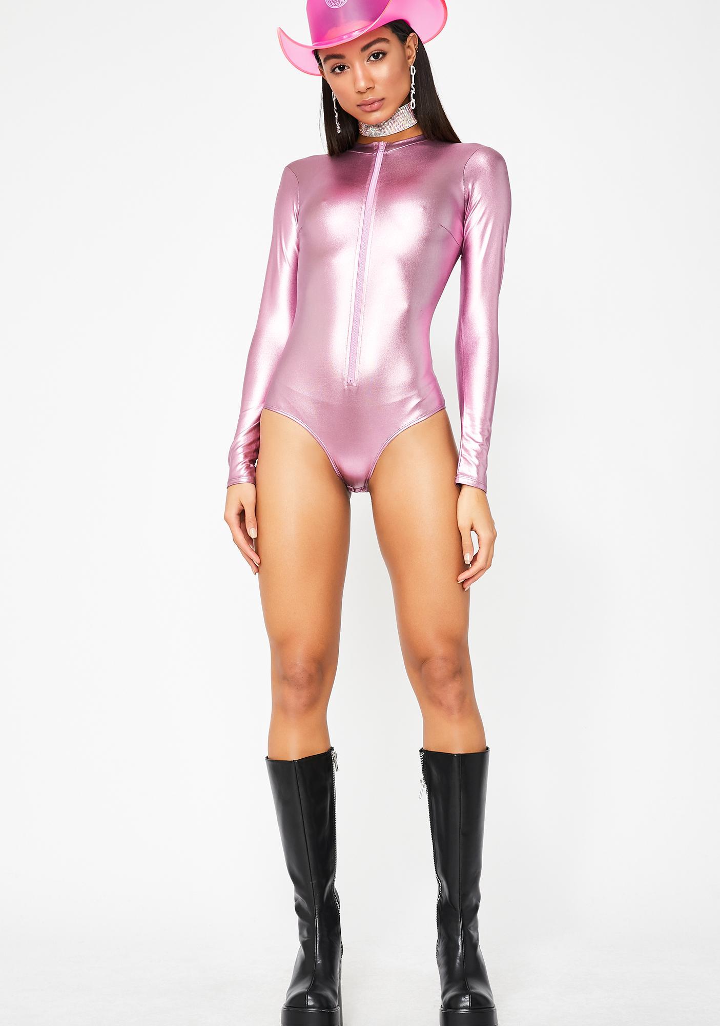 High Volume Metallic Bodysuit
