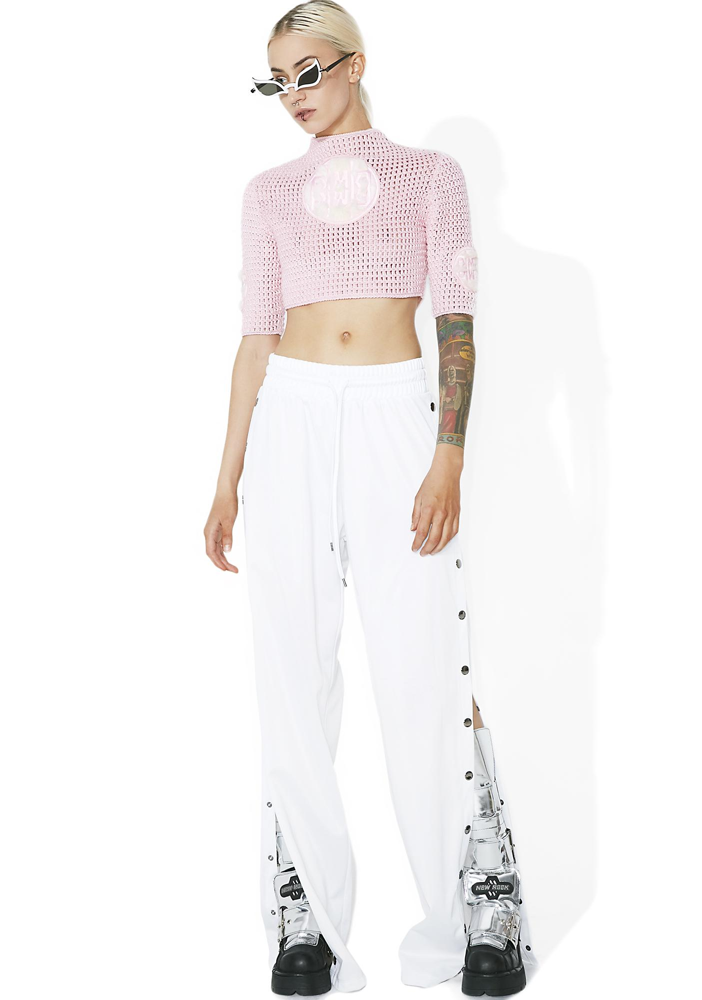 Maria ke Fisherman Crochet For A Good Time Crop Top