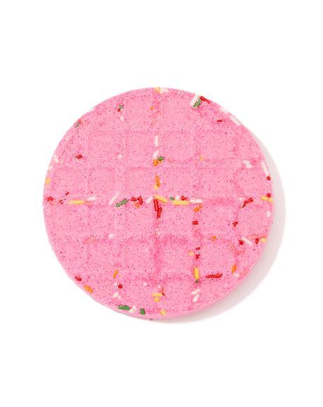 Raspberry Sugar Waffle Bath Bomb
