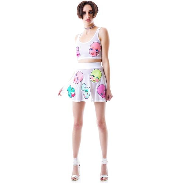 Coveted Society Doll Face Skater Skirt