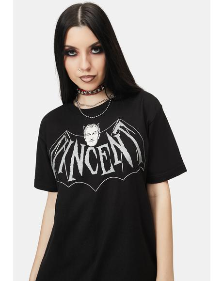 Vincent Price Devil Bat Graphic Tee