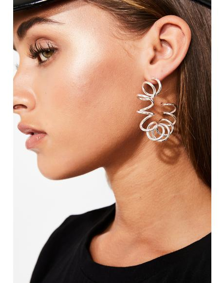 Hella Sprung Spiral Earrings