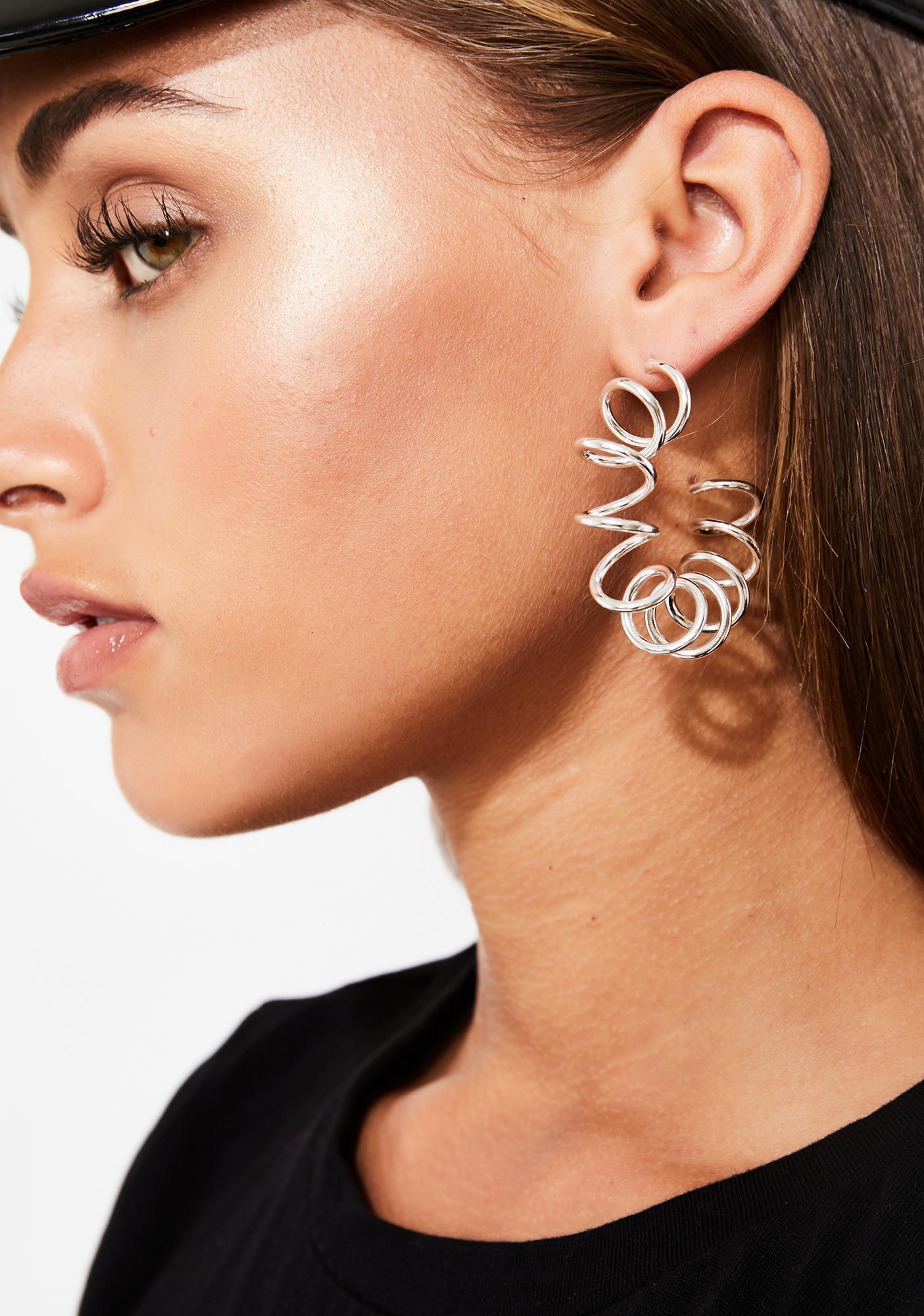 Hella Sprung Spiral Earrings