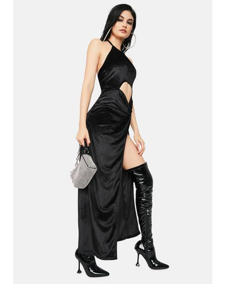 Hot Demand Halter Maxi Dress