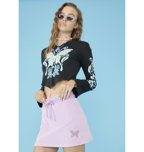 dELiA*s by Dolls Kill Catch Wind Mini Skirt