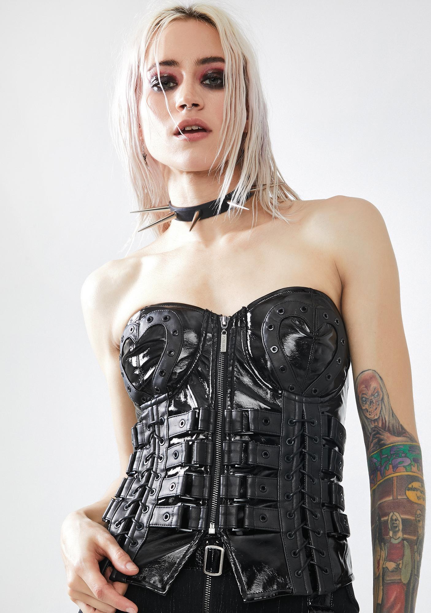 Punk Rave Love And Imprisonment Buckle Corset