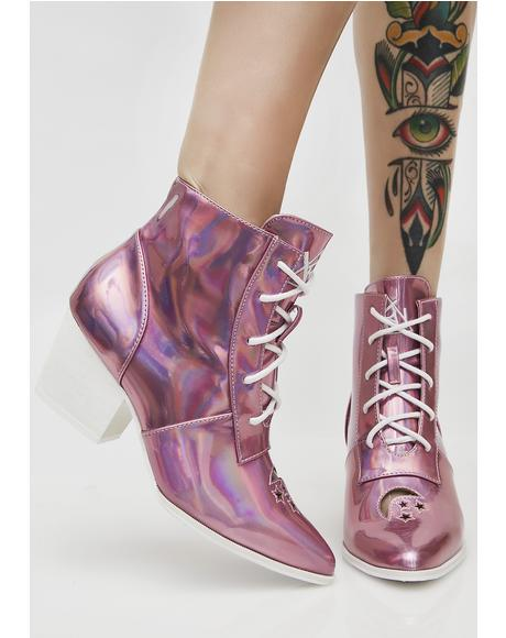 Princess Aura Hologram Boots