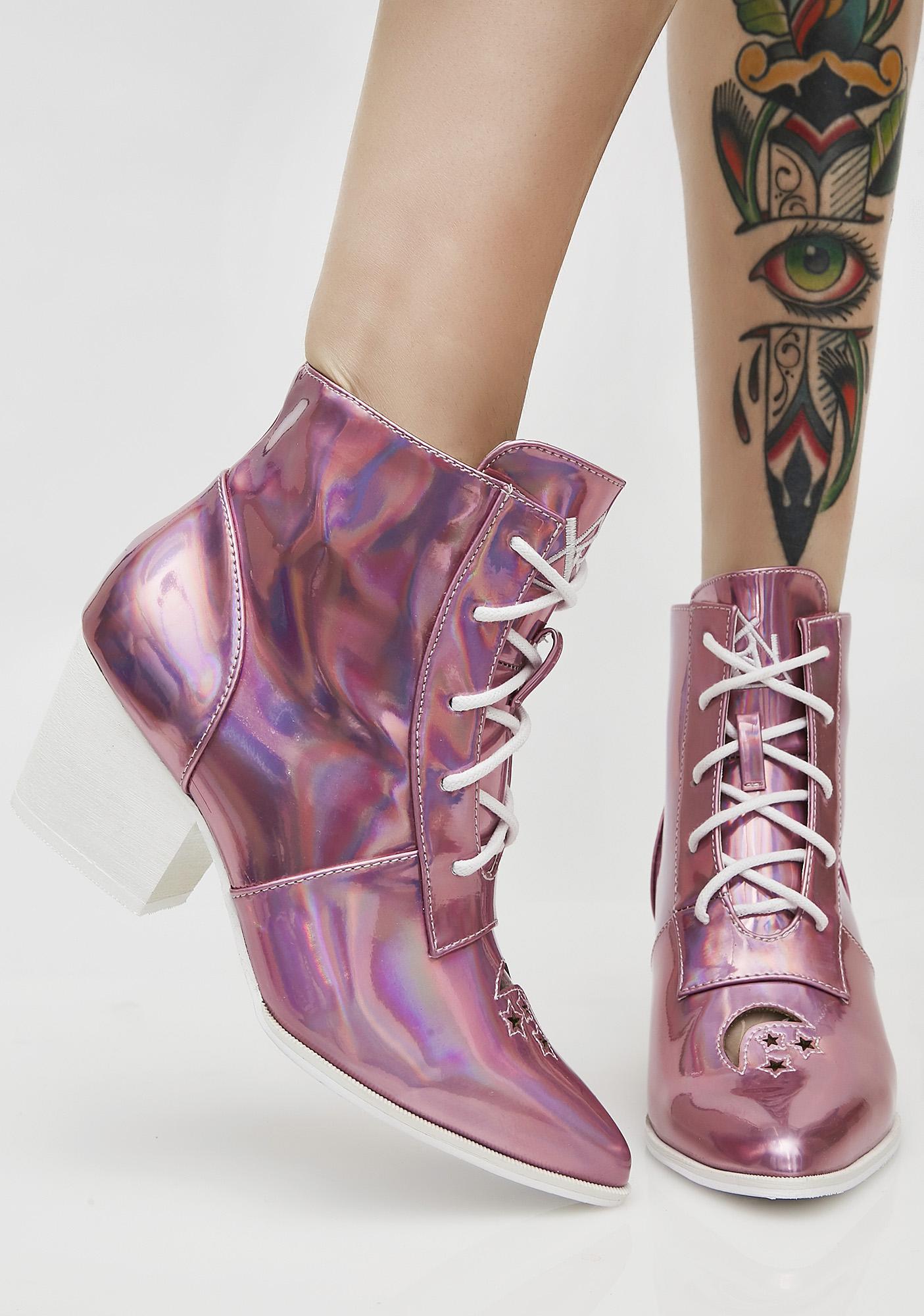 Y.R.U. Princess Aura Hologram Boots