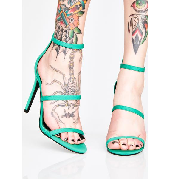 Top Down Strappy Heels