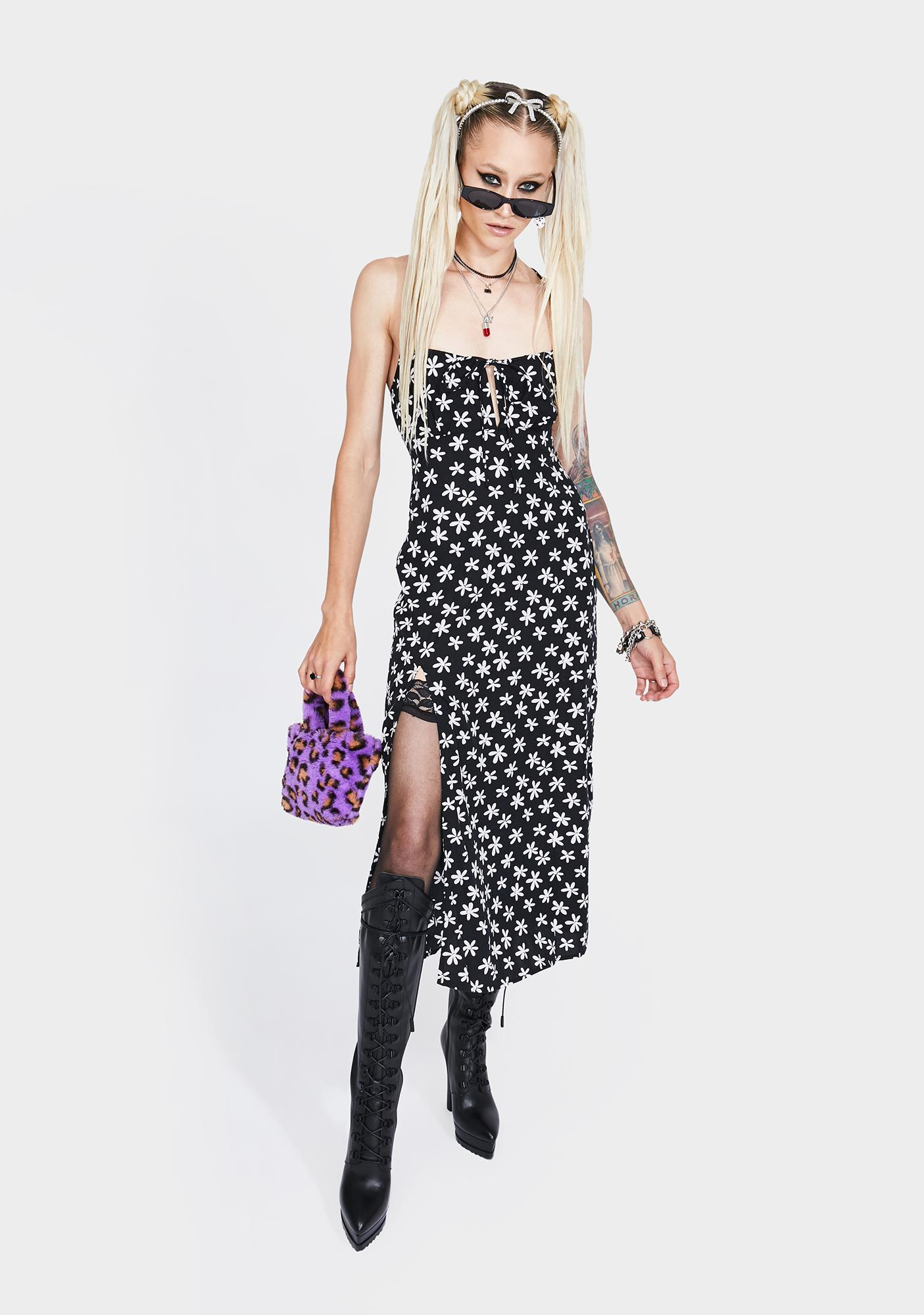 Motel Daisy Print Cypress Midi Dress