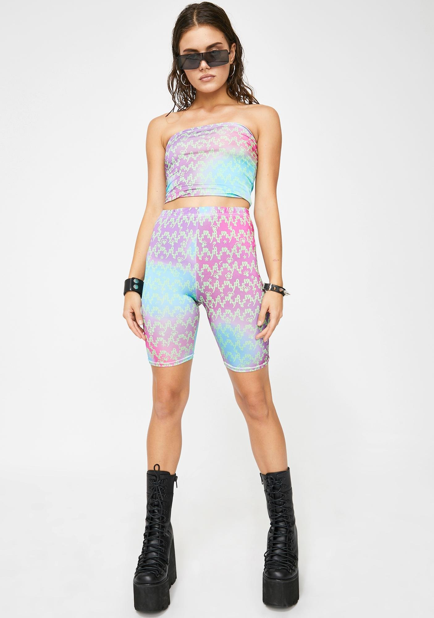 Why Not Us Shooting Star Biker Shorts