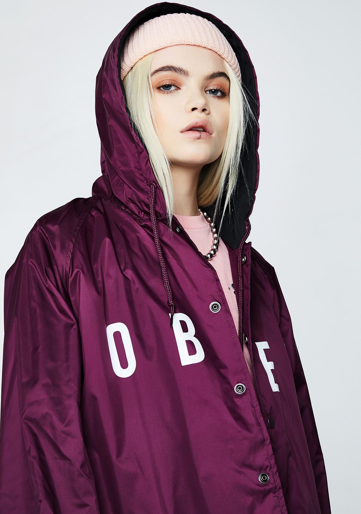 Obey Anyway Hooded Coach Jacket