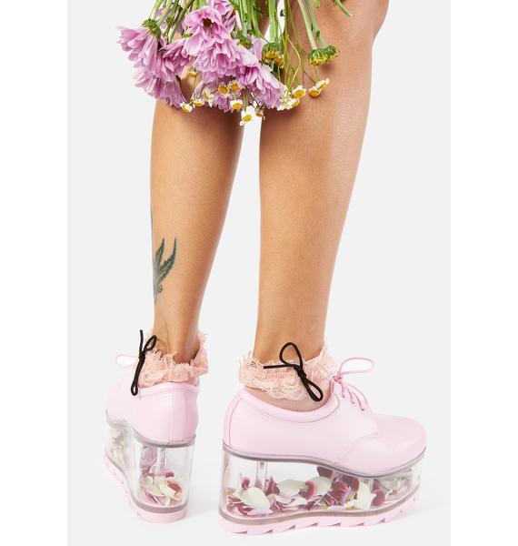 Y.R.U. Baby Pink Qloud 2091 Platform Sneakers