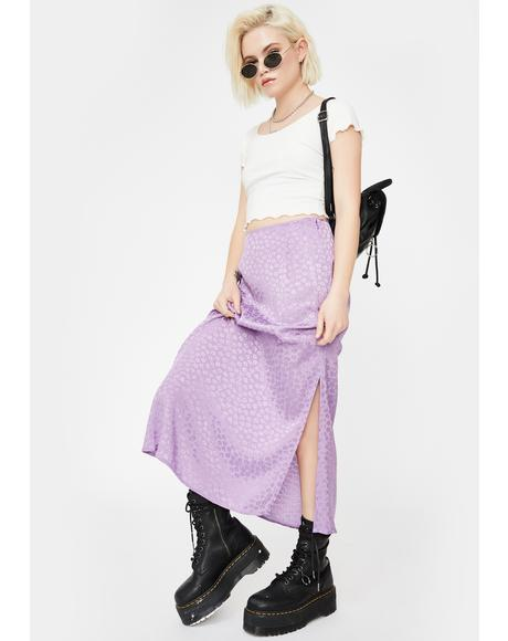 Lavender Tindra Midi Skirt
