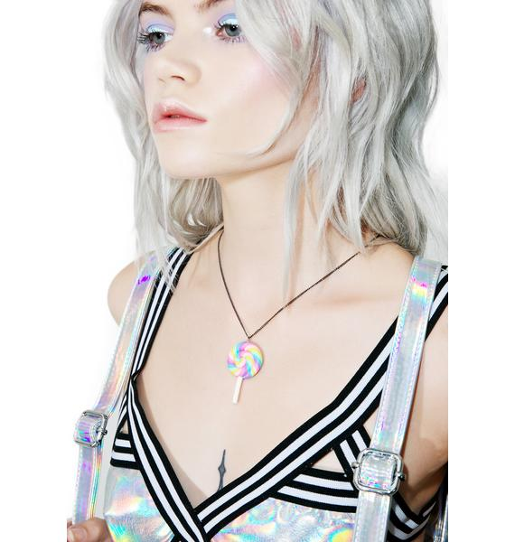 Unicorn Crafts Rainbow Swirl Lollipop Necklace