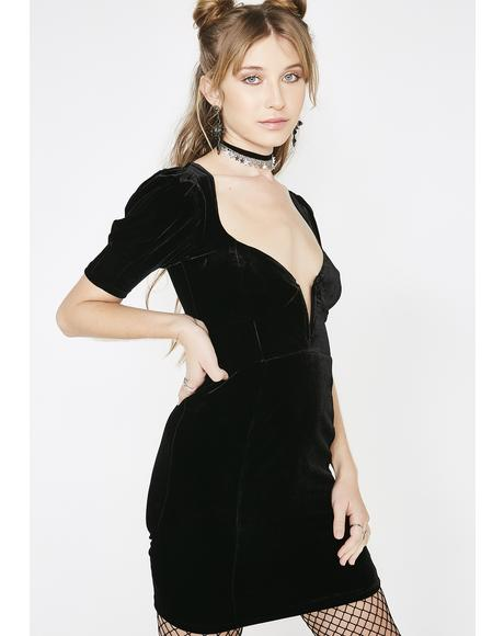 Viva Deep V Mini Dress