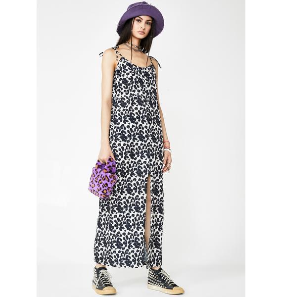 Milk It Leopard Print Cami Dress