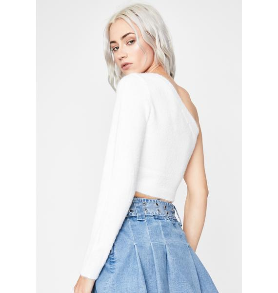 Happily Confused One Shoulder Sweater