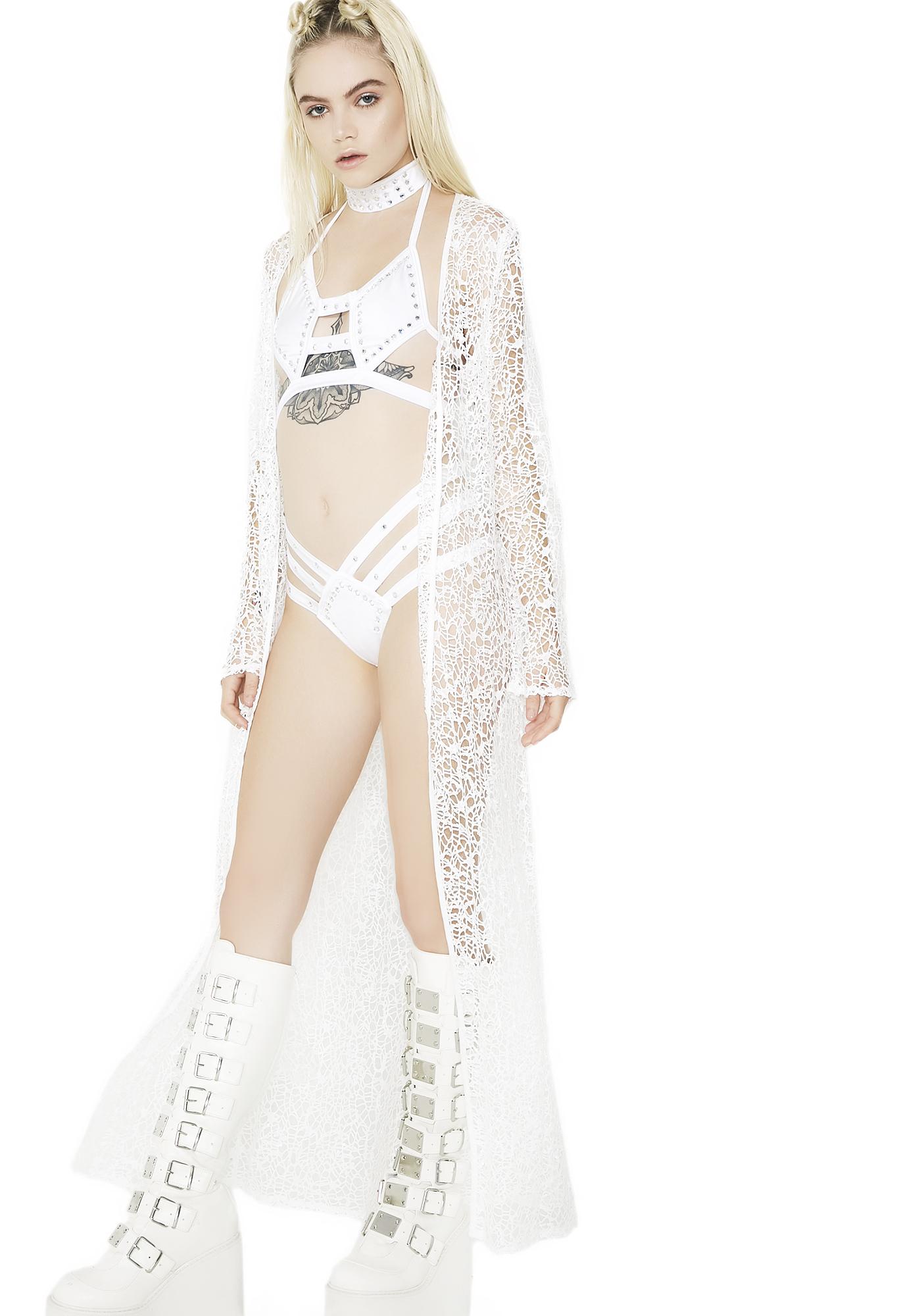 As I Am Moon Gazer Mesh Kimono