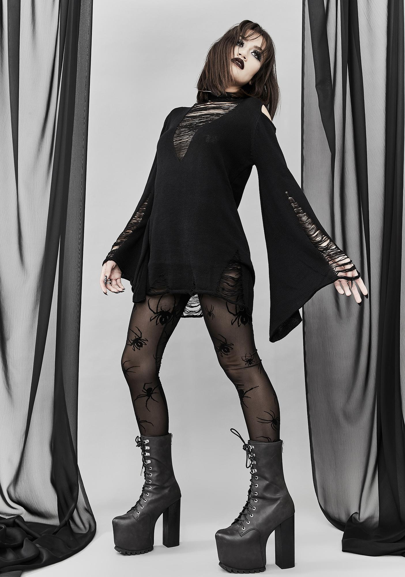 Widow Macabre Tales Mesh Leggings
