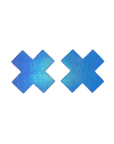 Shiny Blue Cross Pasties