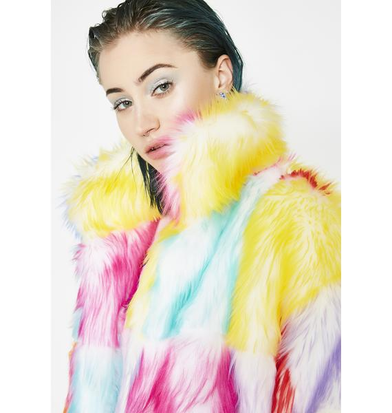 J Valentine Buttercream Dream Furry Coat