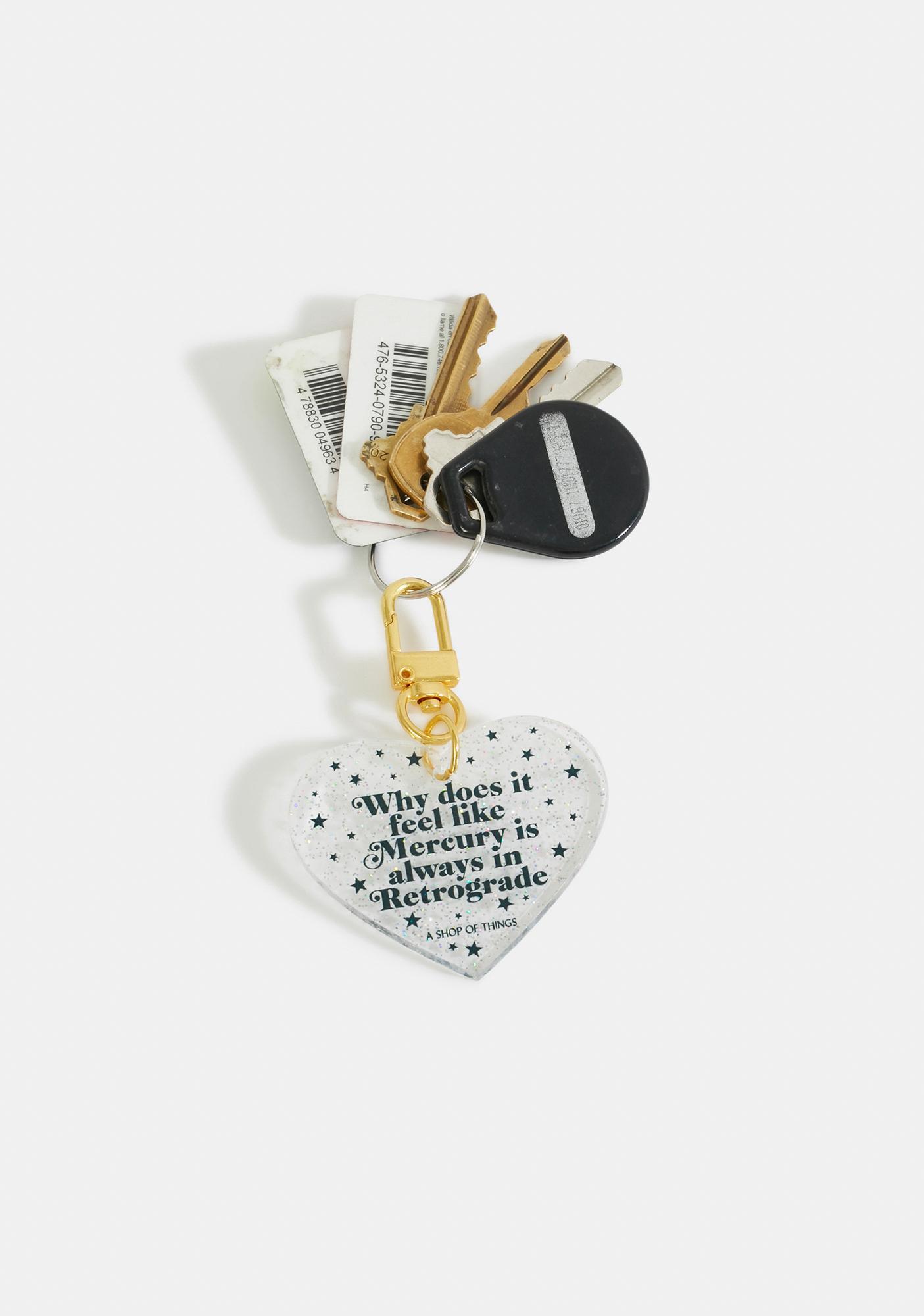 A Shop of Things Mercury In Retrograde Keychain