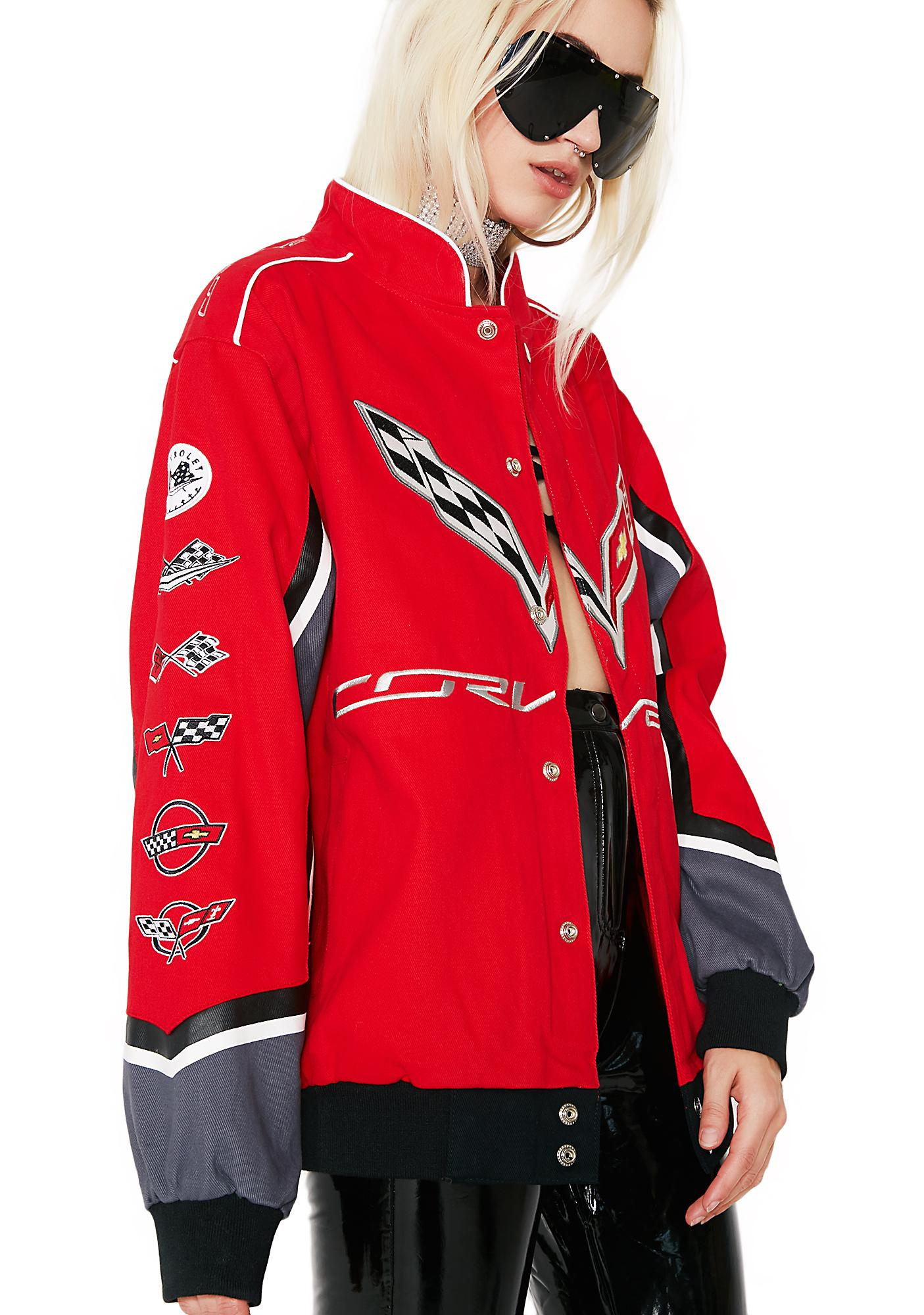 Maxi dress with denim jacket 2018 corvette