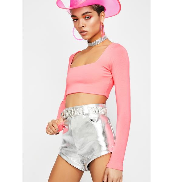 Pixie Neva Holdin' Out Crop Top