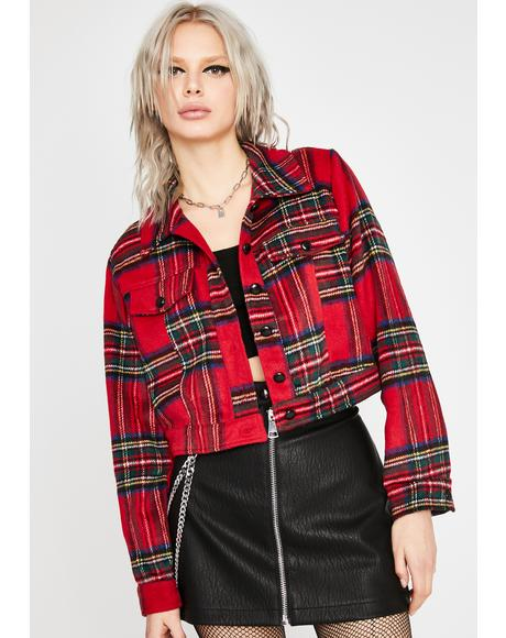 Save The Freakz Plaid Jacket