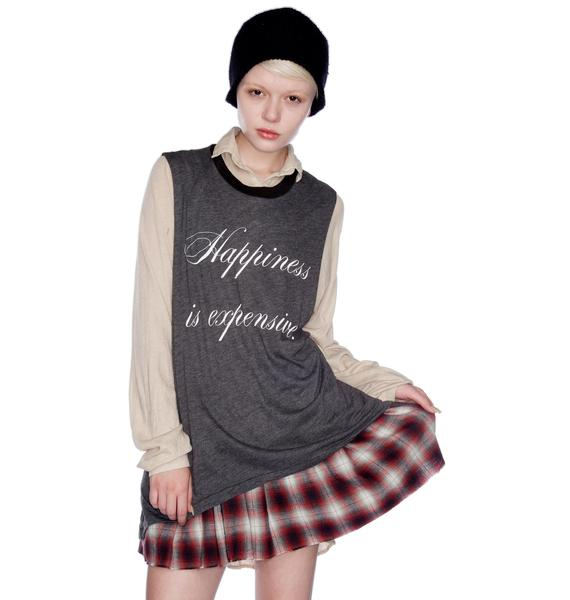 Wildfox Couture Happiness is Expensive Muscle Tank
