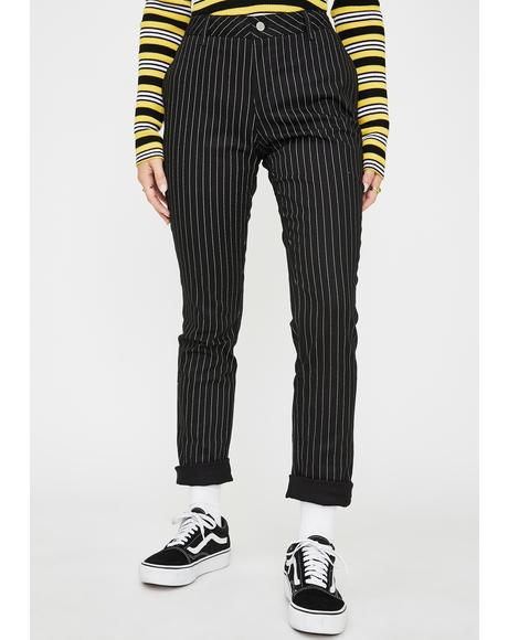 Four Pocket Stretch Pinstripe Pants