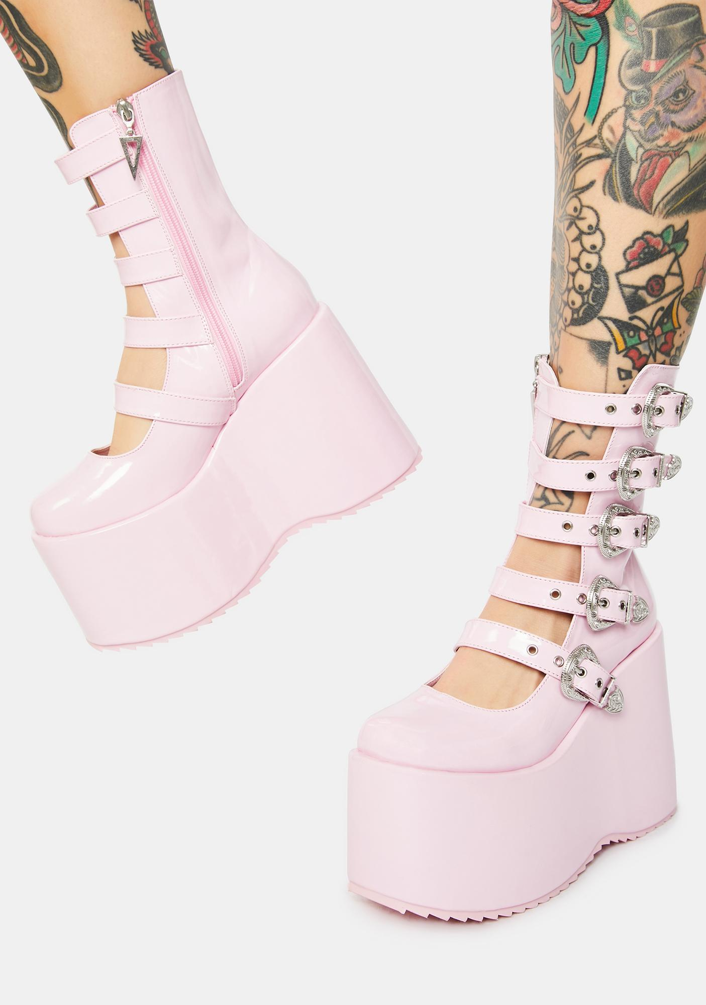 Baby High N Mighty Buckle Strap Platforms