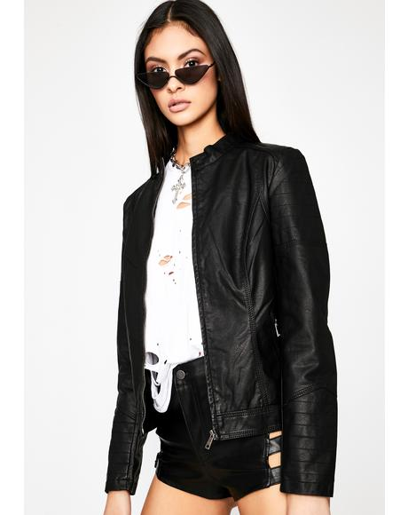 Rocker Chic Bomber Jacket
