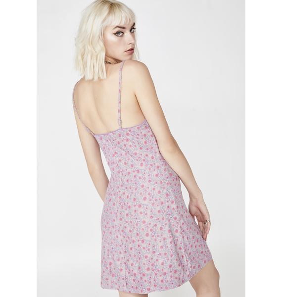 Spring Flower Mini Dress