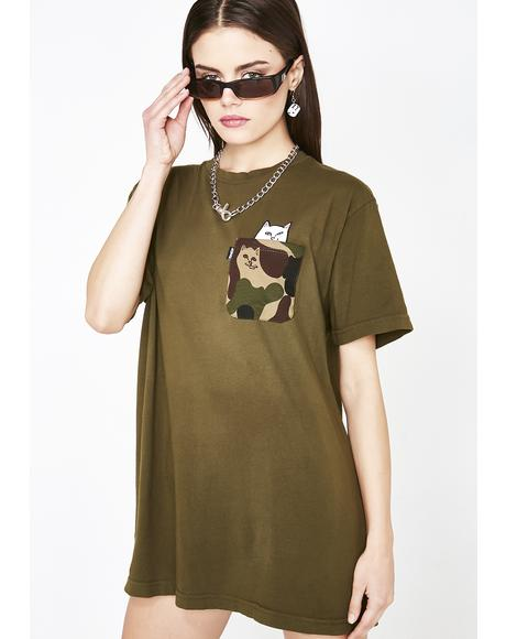 Camo Lord Nermal Pocket Tee