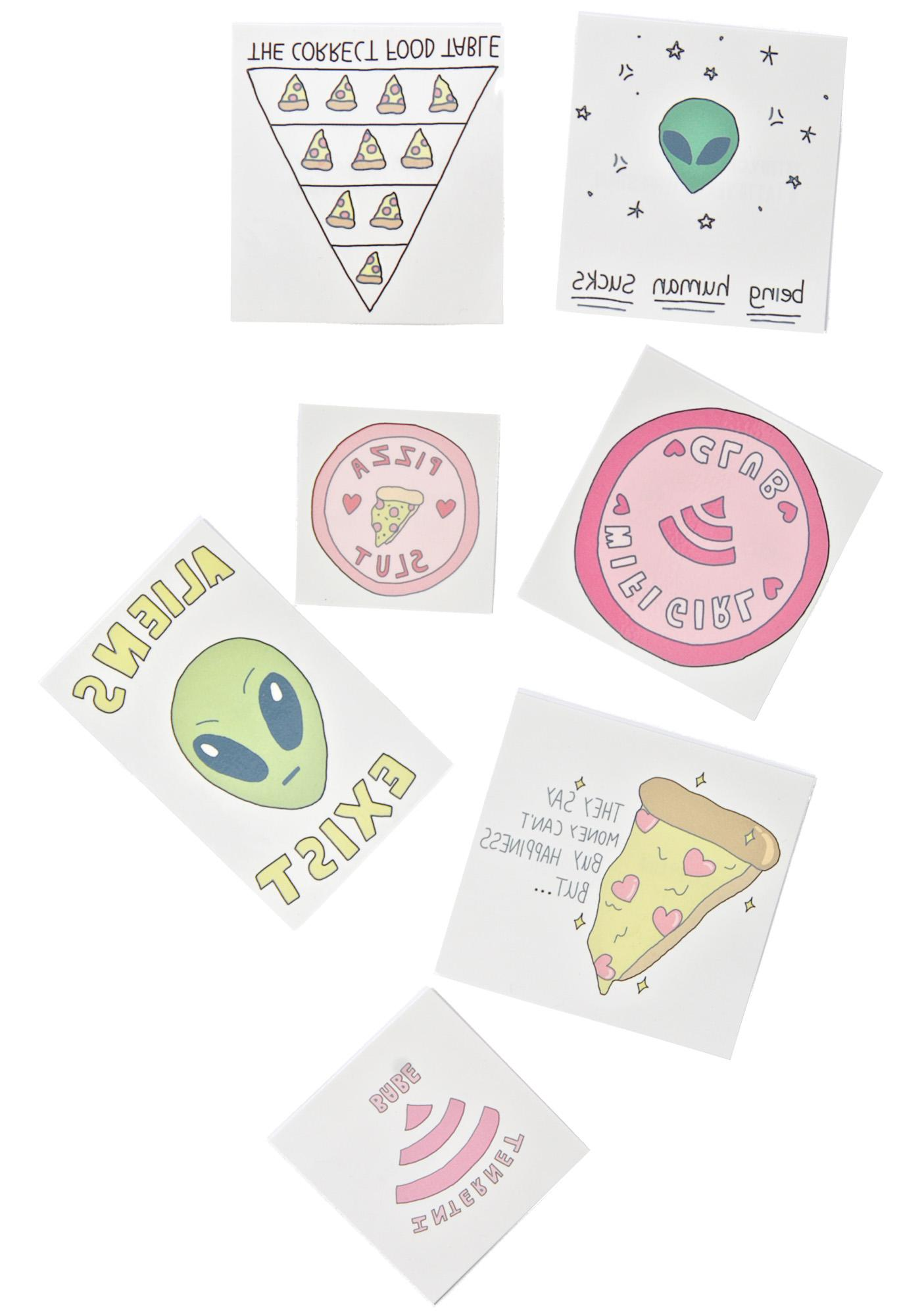 Take Me To Yr Pizza Temporary Tattoos