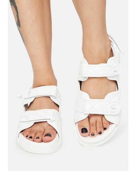 Angel Carmen Quilted Flat Sandals