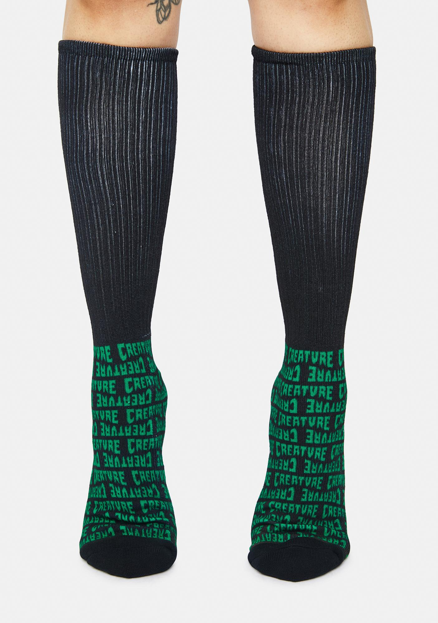 Creature Skateboards Black Lurkers Socks