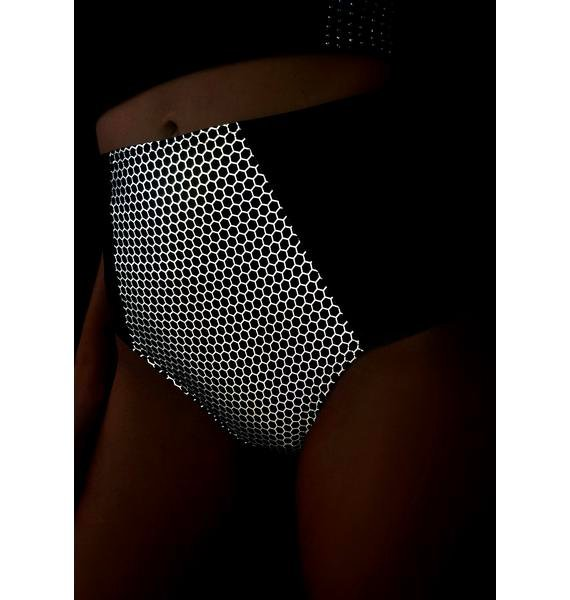 The Lyte Couture Hexx Reflective High Waist Bottoms