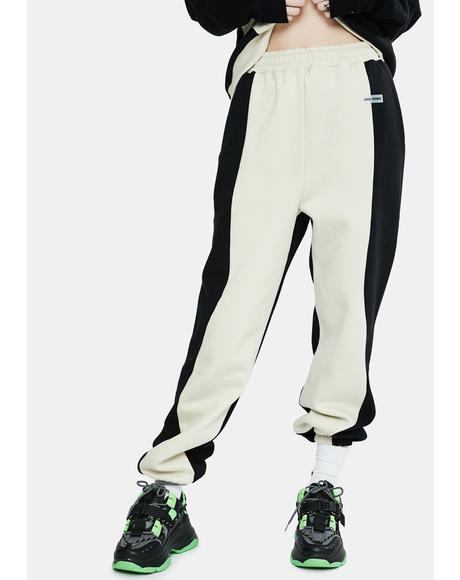 Wave Two-Tone Sweatpants
