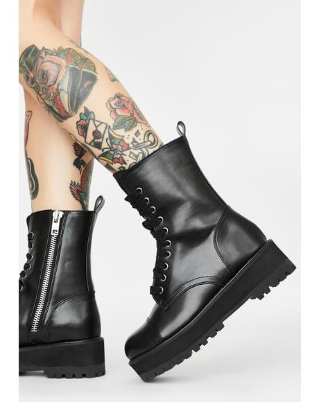 Cold Frontin' Lace Up Boots